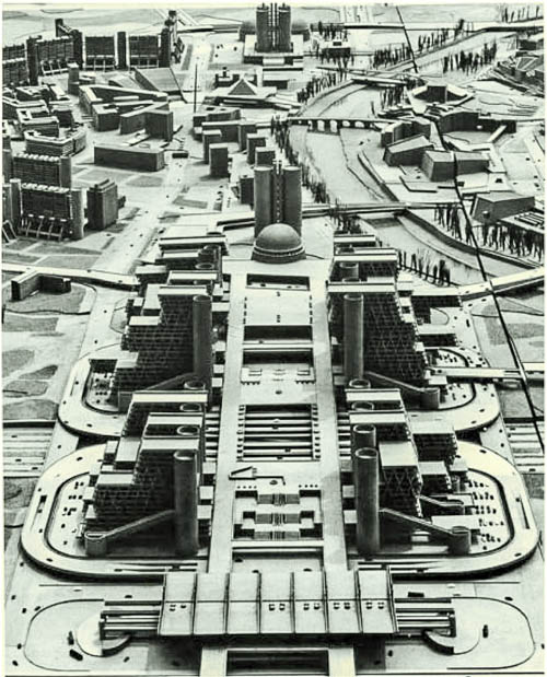 Kenzo Tange, Eastern City Proposal, Skopje, 1967